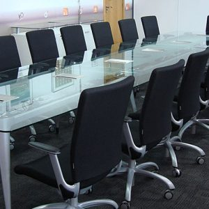18 person dna glass meeting table