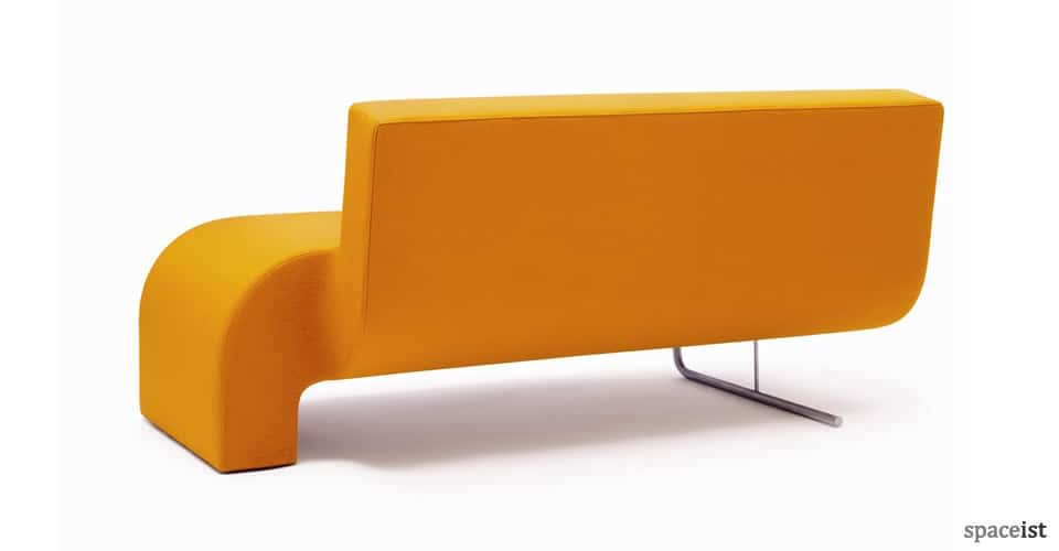 30 yellow fabric curvy corner sofa