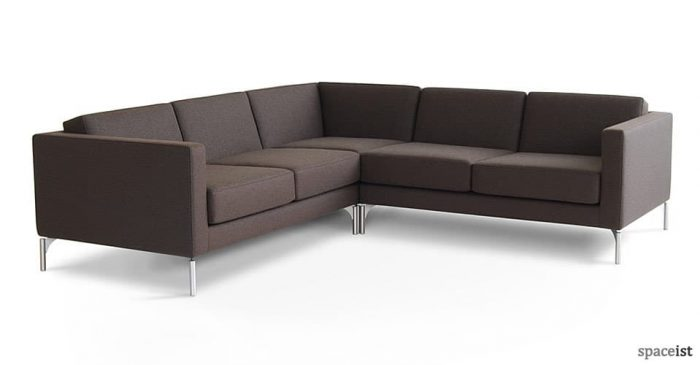 34 brown fabric corner sofa