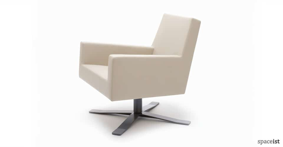 44 white fabric office reception chairs