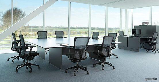 45 black meeting table