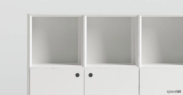 45 box white storage closeup