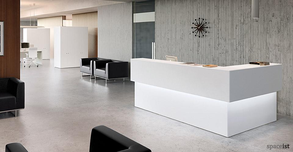Forty5 Reception Desk Range Forty5 Corner Reception Desk