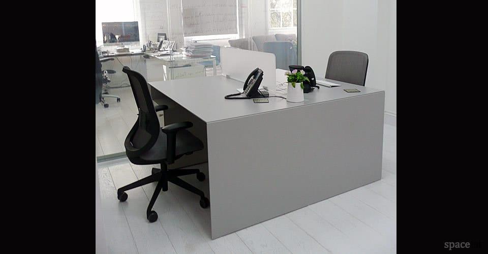 White Office Desks Forty5 Desk 2 Person
