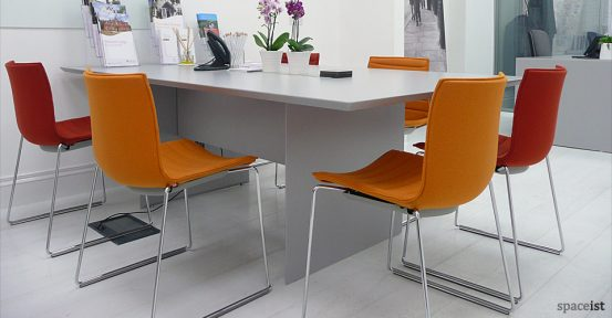 45 grey meeting room table