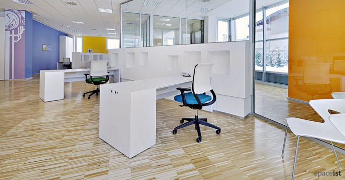 45 white 1 person desk office desk with storage