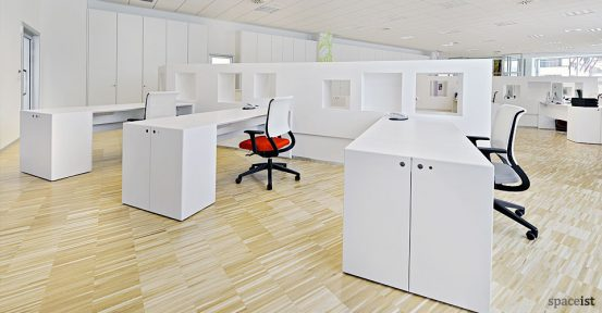 45 white 1 person desk office desk with storage
