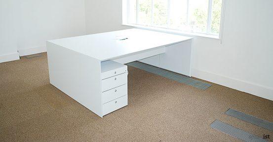 45 white two person desk no screen