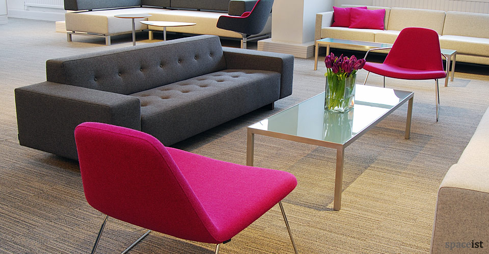 46 dark grey office reception sofas