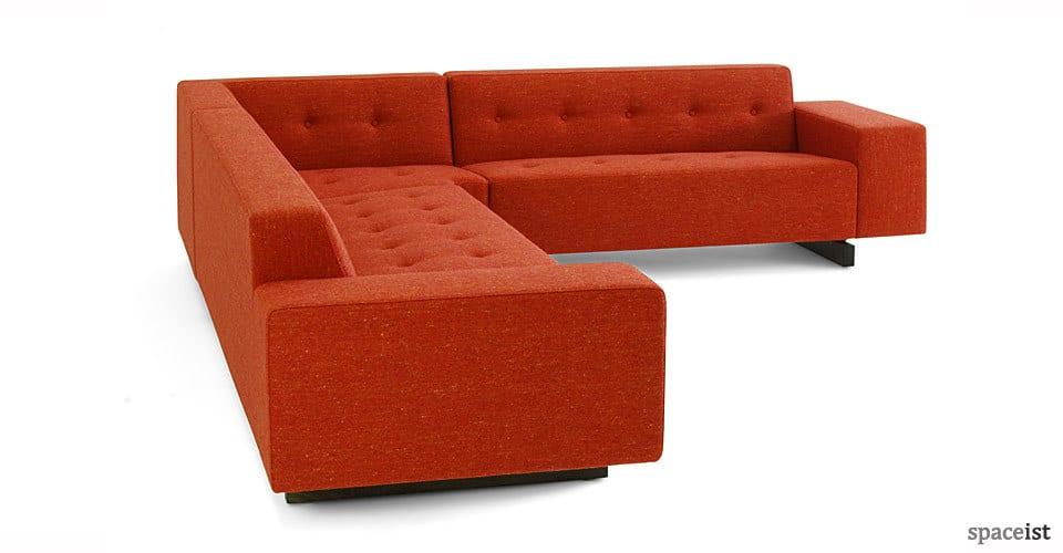 Reception sofas 46 corner sofa for Red corner sofa
