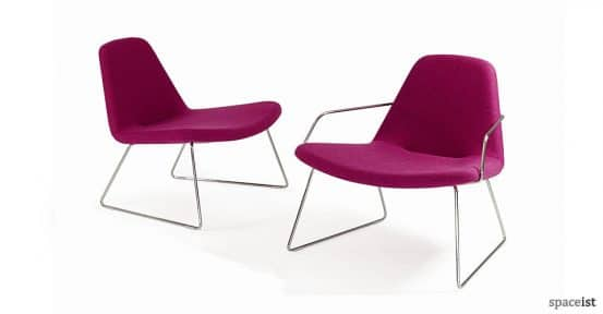 55 pink reception chairs with arms