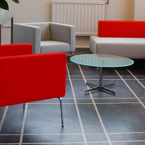 67 red reception chairs