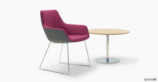 86 purple reception chair