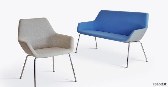 86 blue reception chair