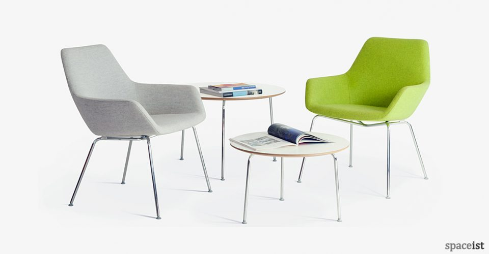 86 high green reception chair
