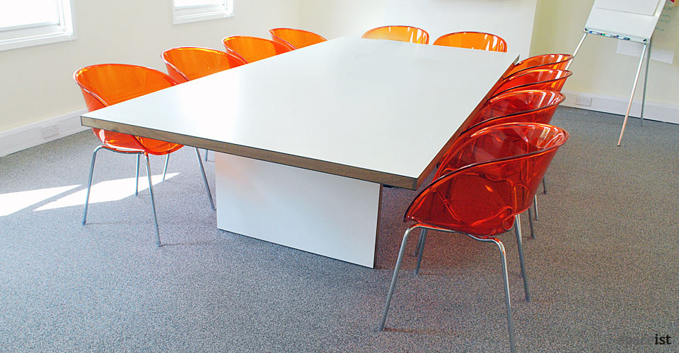 agency inc white meeting room table