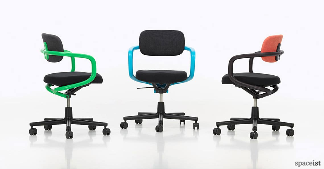 All-Star green, blue and orange meeting chair
