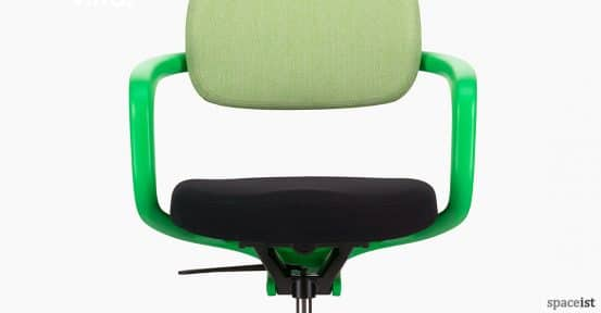 All-Star green meeting chair on castors