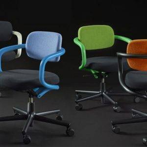 All-Star meeting chair on castors