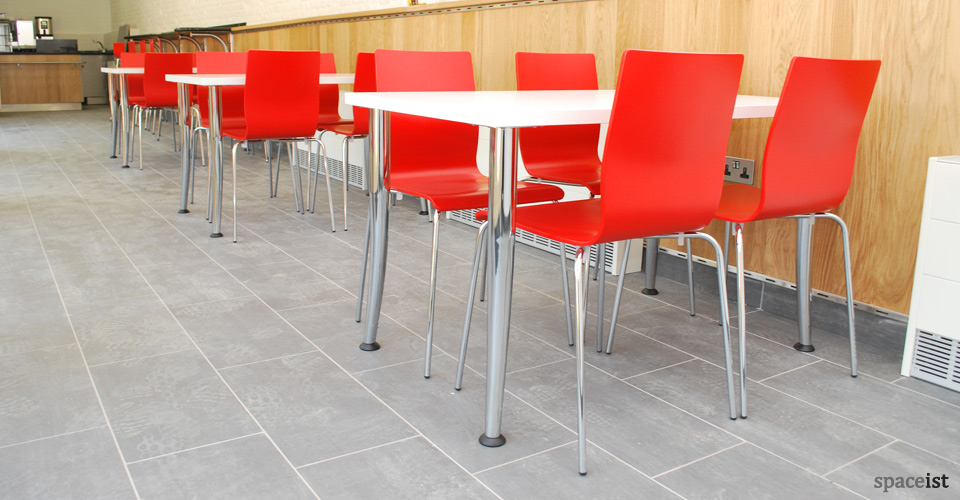 anno chrome leg red modern cafe chairs