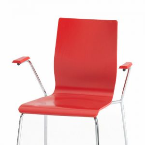 anno colourful red plywood cafe chairs