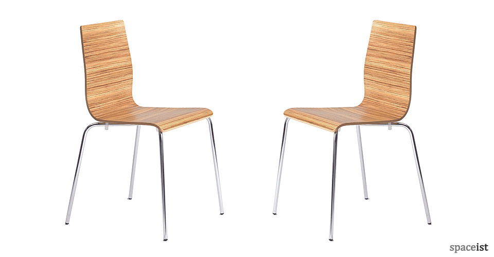 anno zebrano plywood stackable cafe chairs