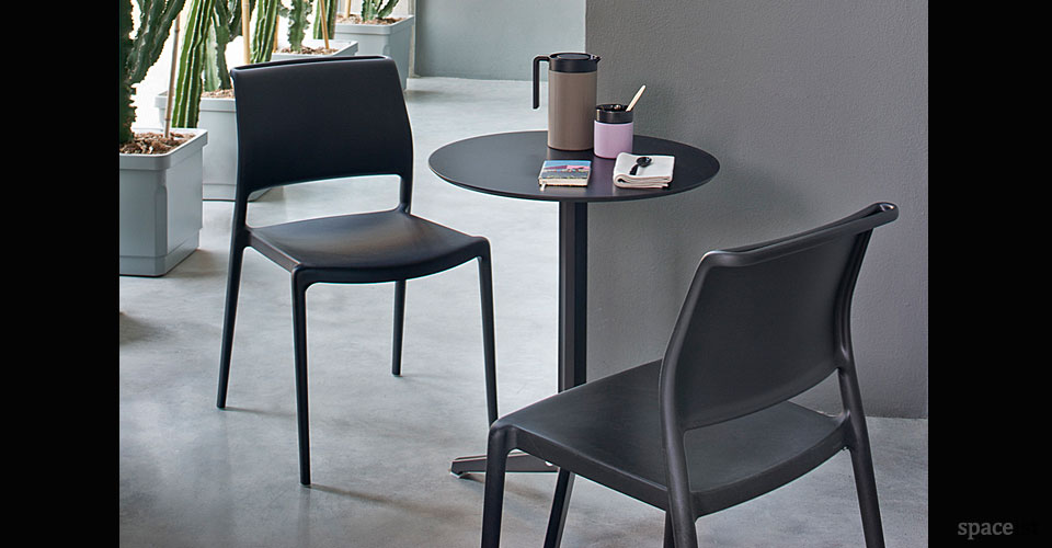 ara black cafe chair with arms