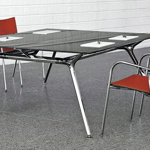 Architec grey glass meeting and boardroom table