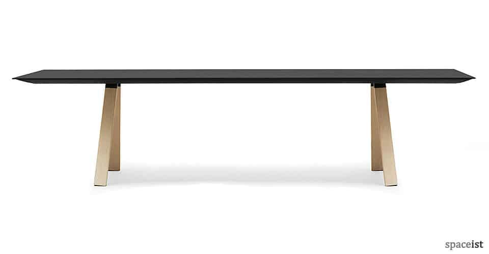 ark black meeting room table