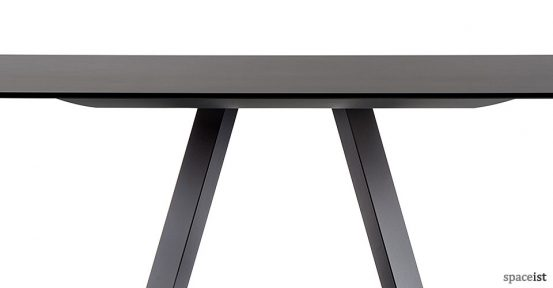 Ark black square meeting table