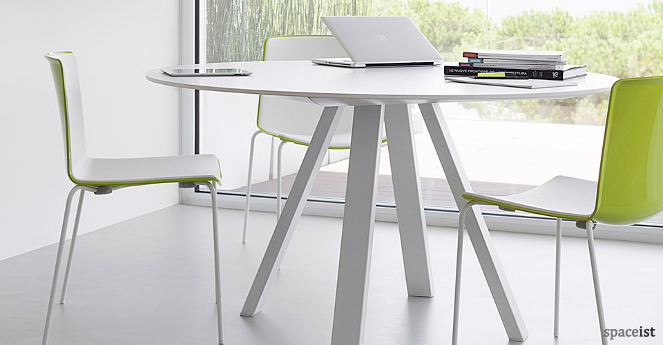 White Meeting Tables Ark Square Table