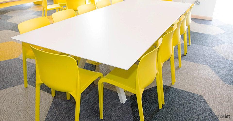 white long study table sir john cass hall hackney