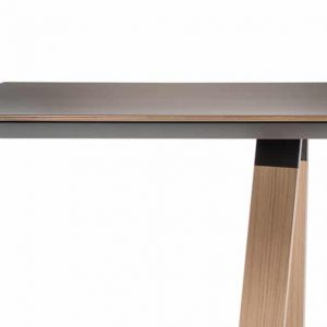 Ark meeting table with a solid oak trestle leg