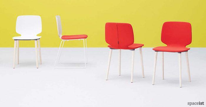 Babila red meeting chair