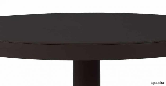 Barcino black and sand round cafe table