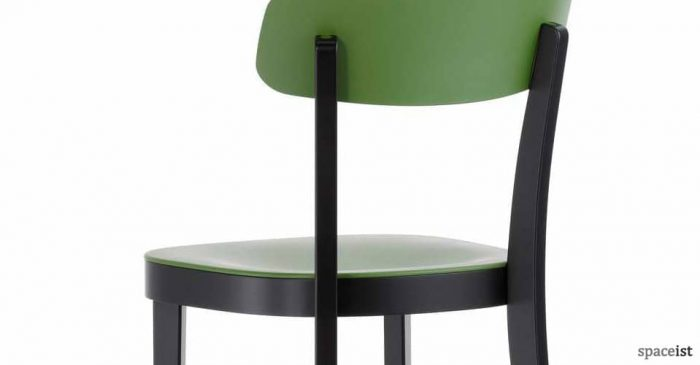 Basel red and green wood cafe chair
