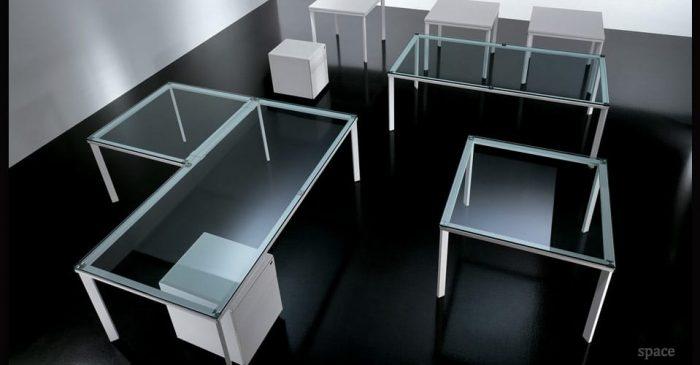 be glass desk
