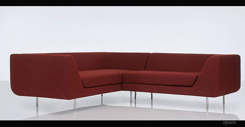 bernard grey office corner sofa