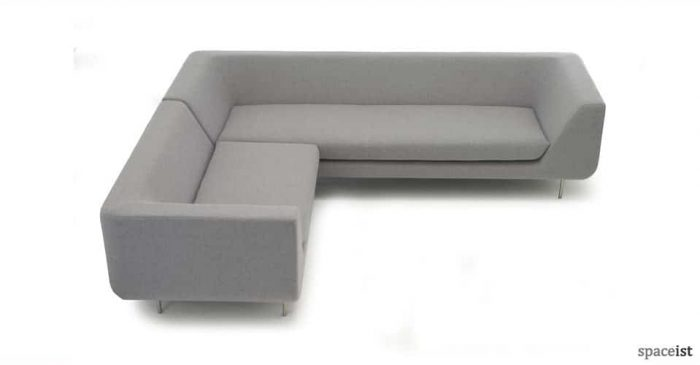 bernard grey office corner sofa