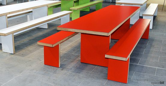 bishop ramsey red canteen table