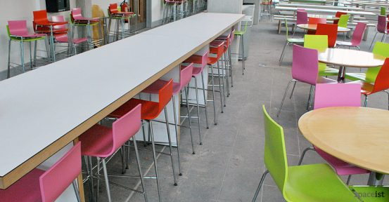 bishop ramsey white high canteen table