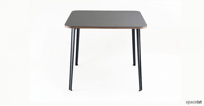 coloured aluminium leg cafe table
