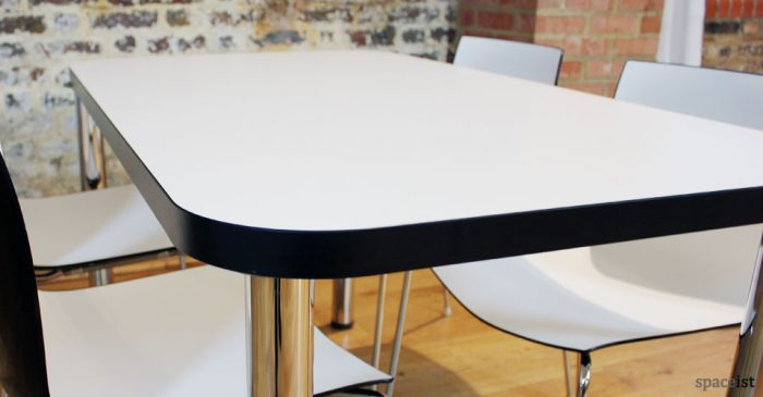 edge black designer cafe tables