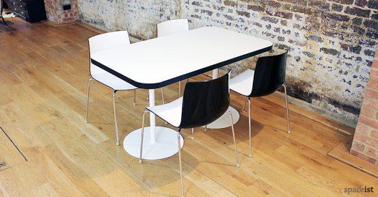 black edge rectangular cafe table