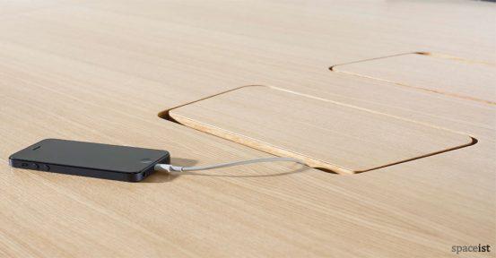 Oak folding conference table