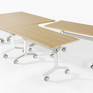 Oak folding conference table