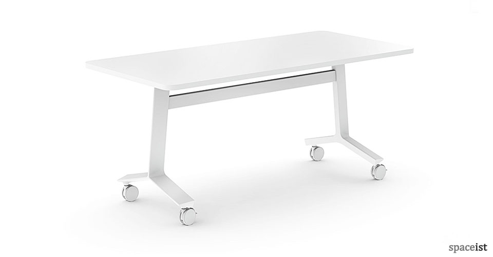 Blade white folding meeting table