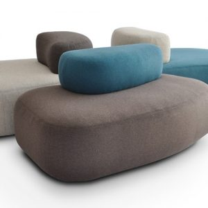 red black fabric pebble office sofas