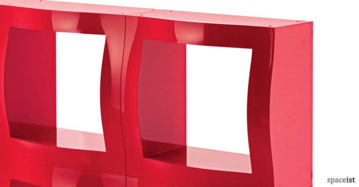 boggie red modular office storage