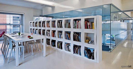 boggie white modular office storage